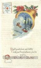 hol003586 - Santa Claus Postcard, Chirstmas Post Card Old Vintage Antique Carte, Postal Postal