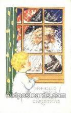 hol003587 - Santa Claus Postcard, Chirstmas Post Card Old Vintage Antique Carte, Postal Postal
