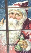hol003591 - Santa Claus Postcard, Chirstmas Post Card Old Vintage Antique Carte, Postal Postal