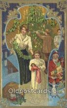 hol003594 - Santa Claus Postcard, Chirstmas Post Card Old Vintage Antique Carte, Postal Postal