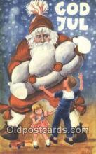hol003601 - Santa Claus Postcard, Chirstmas Post Card Old Vintage Antique Carte, Postal Postal