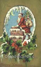 hol003604 - Santa Claus Postcard, Chirstmas Post Card Old Vintage Antique Carte, Postal Postal