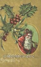 hol003618 - Santa Claus Postcard, Chirstmas Post Card Old Vintage Antique Carte, Postal Postal