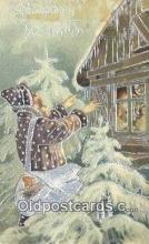 hol003623 - Santa Claus Postcard, Chirstmas Post Card Old Vintage Antique Carte, Postal Postal