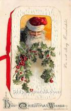 hol003624 - Santa Claus Old Vintage Postcard