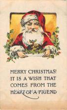 hol003629 - Santa Claus Old Vintage Postcard