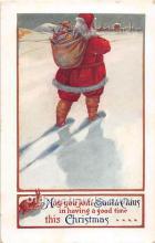 hol003632 - Santa Claus Old Vintage Postcard
