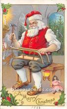 hol003635 - Santa Claus Old Vintage Postcard