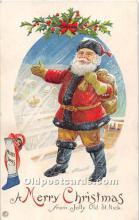 hol003639 - Santa Claus Old Vintage Postcard