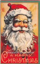 hol003640 - Santa Claus Old Vintage Postcard