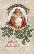 hol003641 - Santa Claus Old Vintage Postcard