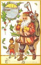 hol003642 - Santa Claus Old Vintage Postcard