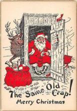 hol003644 - Santa Claus Old Vintage Postcard