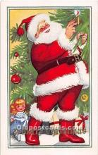 hol003645 - Santa Claus Old Vintage Postcard