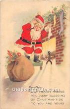 hol003648 - Santa Claus Old Vintage Postcard