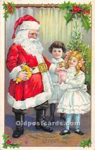 hol003651 - Santa Claus Old Vintage Postcard
