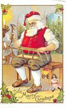 hol003653 - Santa Claus Old Vintage Postcard