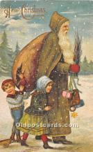 hol003654 - Santa Claus Old Vintage Postcard
