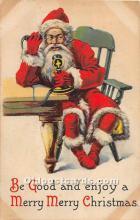 hol003655 - Santa Claus Old Vintage Postcard