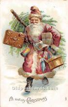 hol003661 - Santa Claus Old Vintage Postcard