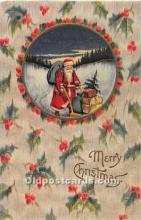 hol003663 - Santa Claus Old Vintage Postcard
