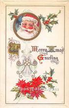 hol003664 - Santa Claus Old Vintage Postcard