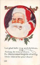 hol003665 - Santa Claus Old Vintage Postcard