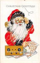 hol003667 - Santa Claus Old Vintage Postcard
