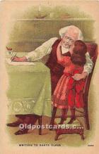 hol003669 - Santa Claus Old Vintage Postcard
