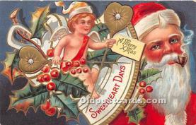 hol003670 - Santa Claus Old Vintage Postcard