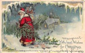hol003671 - Santa Claus Old Vintage Postcard