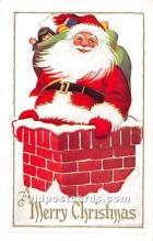 hol003672 - Santa Claus Old Vintage Postcard