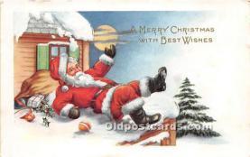 hol003673 - Santa Claus Old Vintage Postcard