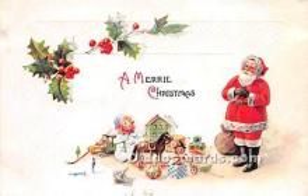 hol003676 - Santa Claus Old Vintage Postcard