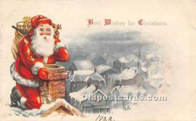 hol003677 - Santa Claus Old Vintage Postcard