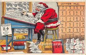 hol003678 - Santa Claus Old Vintage Postcard