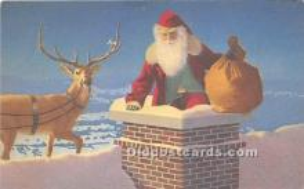 hol003680 - Santa Claus Old Vintage Postcard