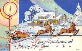 hol003681 - Santa Claus Old Vintage Postcard