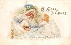 hol003682 - Santa Claus Old Vintage Postcard
