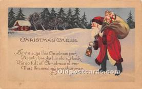 hol003686 - Santa Claus Old Vintage Postcard