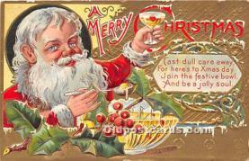 hol003690 - Santa Claus Old Vintage Postcard