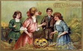 hol006120 - Halloween Postcard Postcards