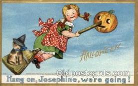 hol006127 - Artist C.B.T. Halloween Postcard Postcards