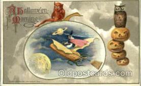 hol010025 - Artist Samual Schmucker Halloween Postcard Postcards