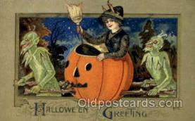 hol010028 - Artist Samual Schmucker Halloween Postcard Postcards
