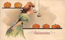hol011028 - Halloween Postcard Old Vintage Post Card