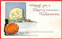 hol011030 - Halloween Postcard Old Vintage Post Card