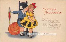 hol011041 - Halloween Postcard Old Vintage Post Card
