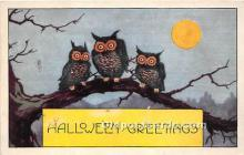 hol011047 - Halloween Postcard Old Vintage Post Card