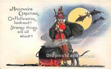 hol011049 - Halloween Postcard Old Vintage Post Card